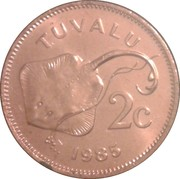 2 cents Elizabeth II (2e effigie) – revers