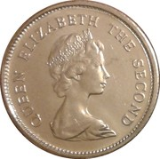 5 cents Elizabeth II (2e effigie) – avers