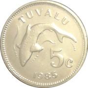 5 cents Elizabeth II (2e effigie) – revers