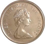 10 cents Elizabeth II (2e effigie) – avers