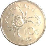 10 cents Elizabeth II (2e effigie) – revers