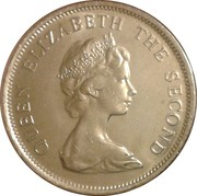 20 cents Elizabeth II (2e effigie) – avers