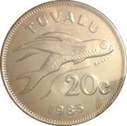 20 cents Elizabeth II (2e effigie) – revers