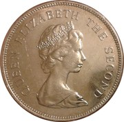 50 cents Elizabeth II (2e effigie) – avers