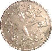 50 cents Elizabeth II (2e effigie) – revers