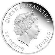 50 Cents - Elizabeth II (Year of the Goat) – avers