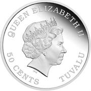 50 Cents - Elizabeth II (Year of the Dragon) – avers