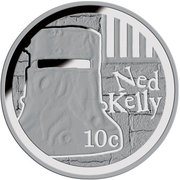 10 Cents - Elizabeth II (Ned Kelly) 2015 – revers