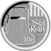 10 Cents - Elizabeth II (Ned Kelly) – revers