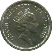 5 cents Elizabeth II (3e effigie) – avers