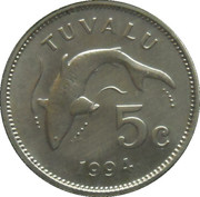 5 cents Elizabeth II (3e effigie) – revers