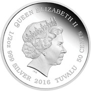 50 cents Elizabeth II (Lynx cubs) – avers