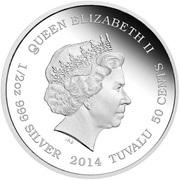 50 Cents - Elizabeth II (Giraffe) – avers