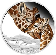 50 Cents - Elizabeth II (Giraffe) – revers