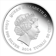 50 Cents - Elizabeth II (Asian Elephant) – avers