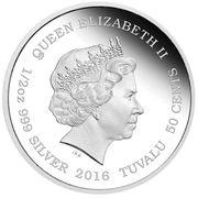 50 Cents - Elizabeth II (Snow Leopard) – avers