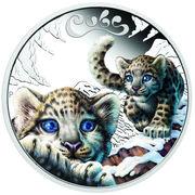 50 Cents - Elizabeth II (Snow Leopard) – revers