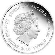 50 Cents - Elizabeth II (Tiger) – avers