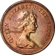 1 cent Elizabeth II (2e effigie) – avers
