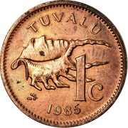 1 cent Elizabeth II (2e effigie) – revers
