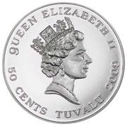 50 Cents - Elizabeth II (Moonlanding) – avers