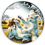 50 Cents - Elizabeth II (White Lion Cubs) – revers
