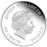 50 Cents - Elizabeth II (Year of the Monkey) – avers
