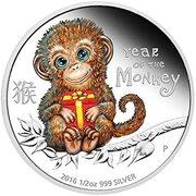 50 Cents - Elizabeth II (Year of the Monkey) – revers