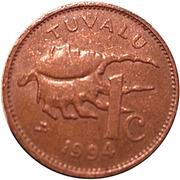 1 cent Elizabeth II (3e effigie) – revers