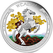 1 Dollar (Year of the Horse - Wealth) -  revers