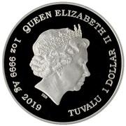 1 Dollar - Elizabeth II (Homer Simpson) – avers