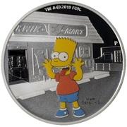 1 Dollar - Elizabeth II (Bart Simpson) – revers
