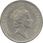 50 cents Elizabeth II (3e effigie) – avers