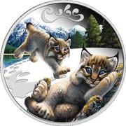50 cents Elizabeth II (Lynx cubs) – revers