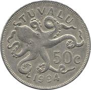 50 cents Elizabeth II (3e effigie) – revers
