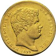 6 ducati - Ferdinando II – avers