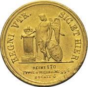 6 ducati - Ferdinando II – revers