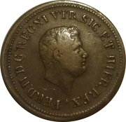 1½ tornese - Ferdinando II – avers