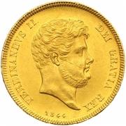15 ducati Ferdinando II – avers