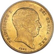 30 ducati, 25 piastre - Francesco I – avers