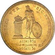 30 ducati, 25 piastre - Francesco I – revers