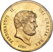 30 ducati - Ferdinando II – avers