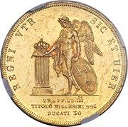 30 ducati - Ferdinando II – revers