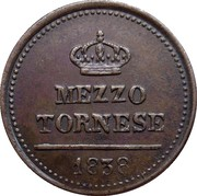 ½ Tornese - Ferdinand II – revers