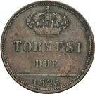 2 Tornesi - Francesco I – revers