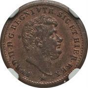 ½ tornese - Ferdinando II – avers