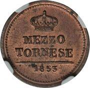 ½ tornese - Ferdinando II – revers