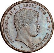 10 Tornesi - Ferdinando II (1er portrait) – avers
