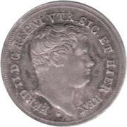 5 grana -  Ferdinando II – avers