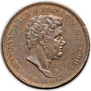 10 Tornesi - Ferdinando II (2eme portrait) – avers